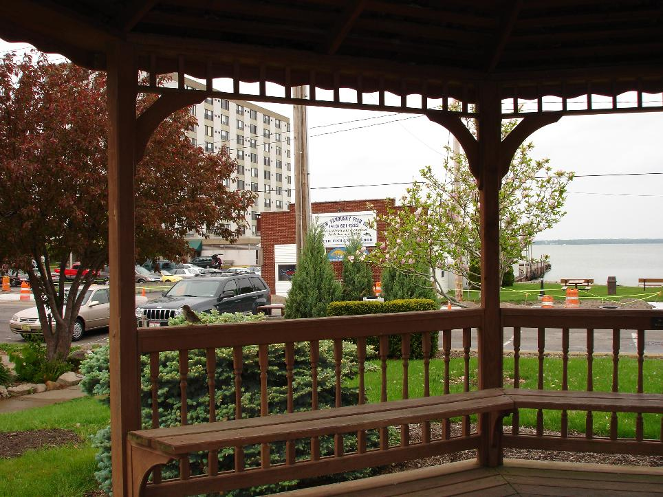 Across the street is a public gazebo with a view of Lake Erie; an excellent spot for enjoying perch sandwiches.