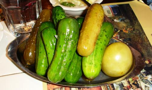 What's a Jewish deli without an assortment of sour pickles? These are from New York's 2nd Ave Deli.