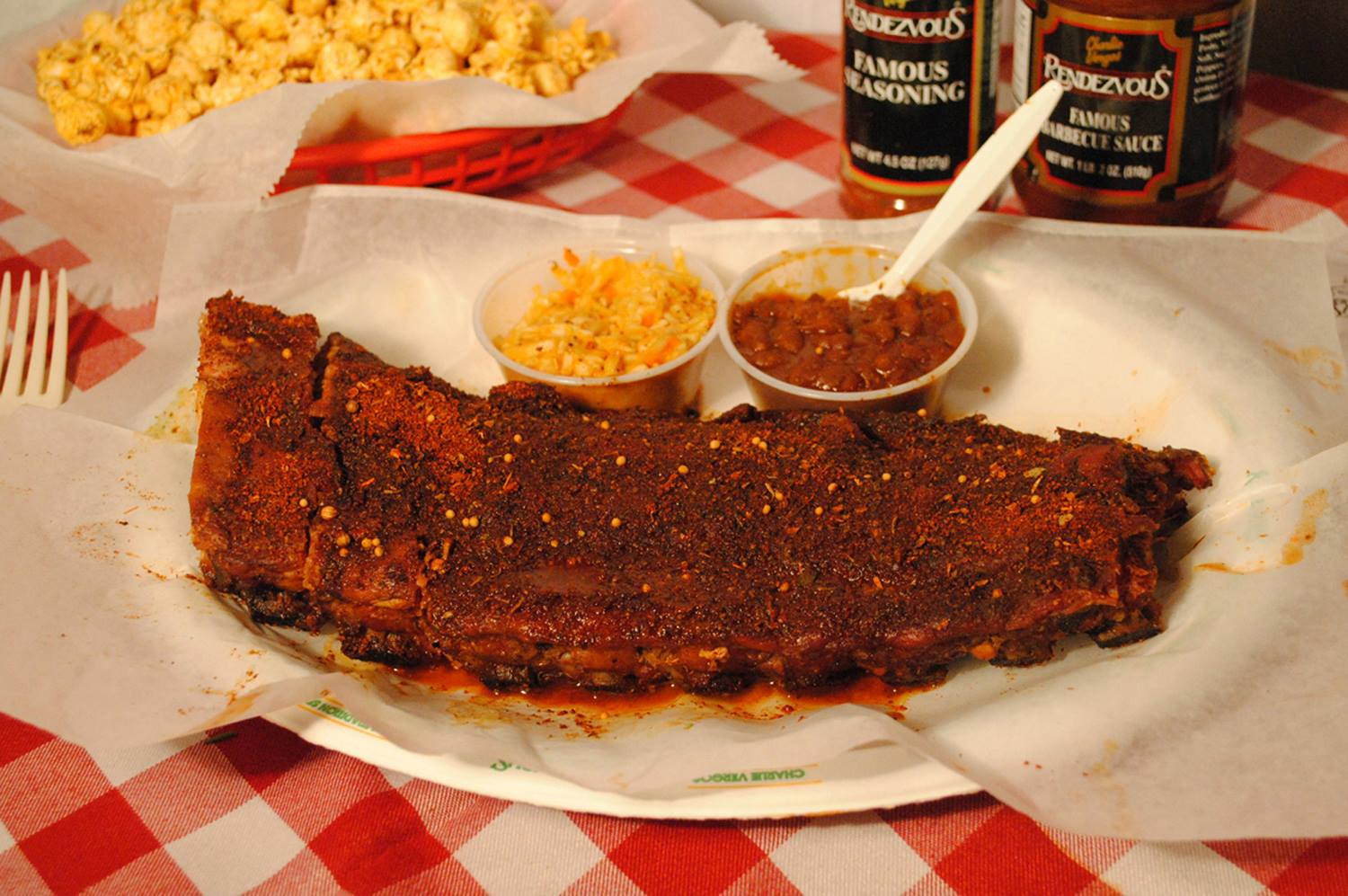 The Rendezvous' unique Memphis dry ribs