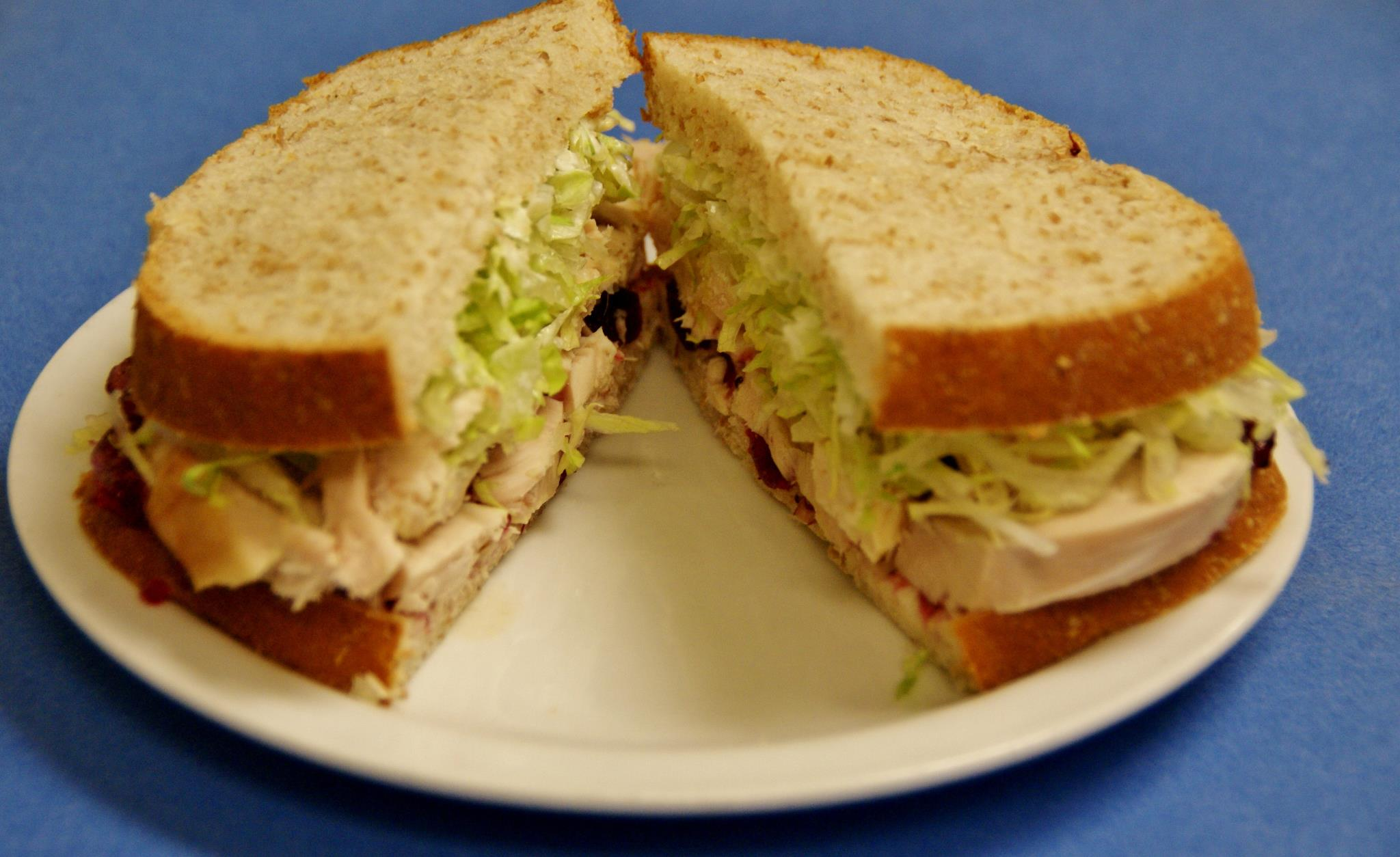 The famous turkey sandwich, made from a fresh-roasted bird, at Bakeman's