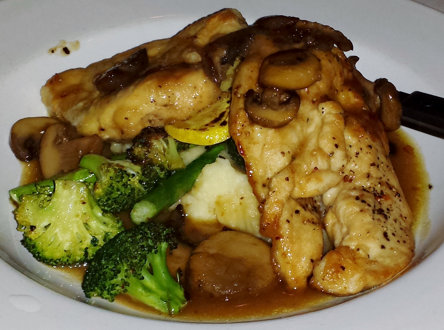 Free Bird Chicken Marsala is made with FreeBird chicken breasts, and plenty of mushrooms, served over organic mashed potatoes and vegetables.
