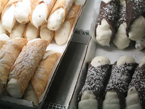 Cannoli from Maria's Pastry Shop in Boston's North End