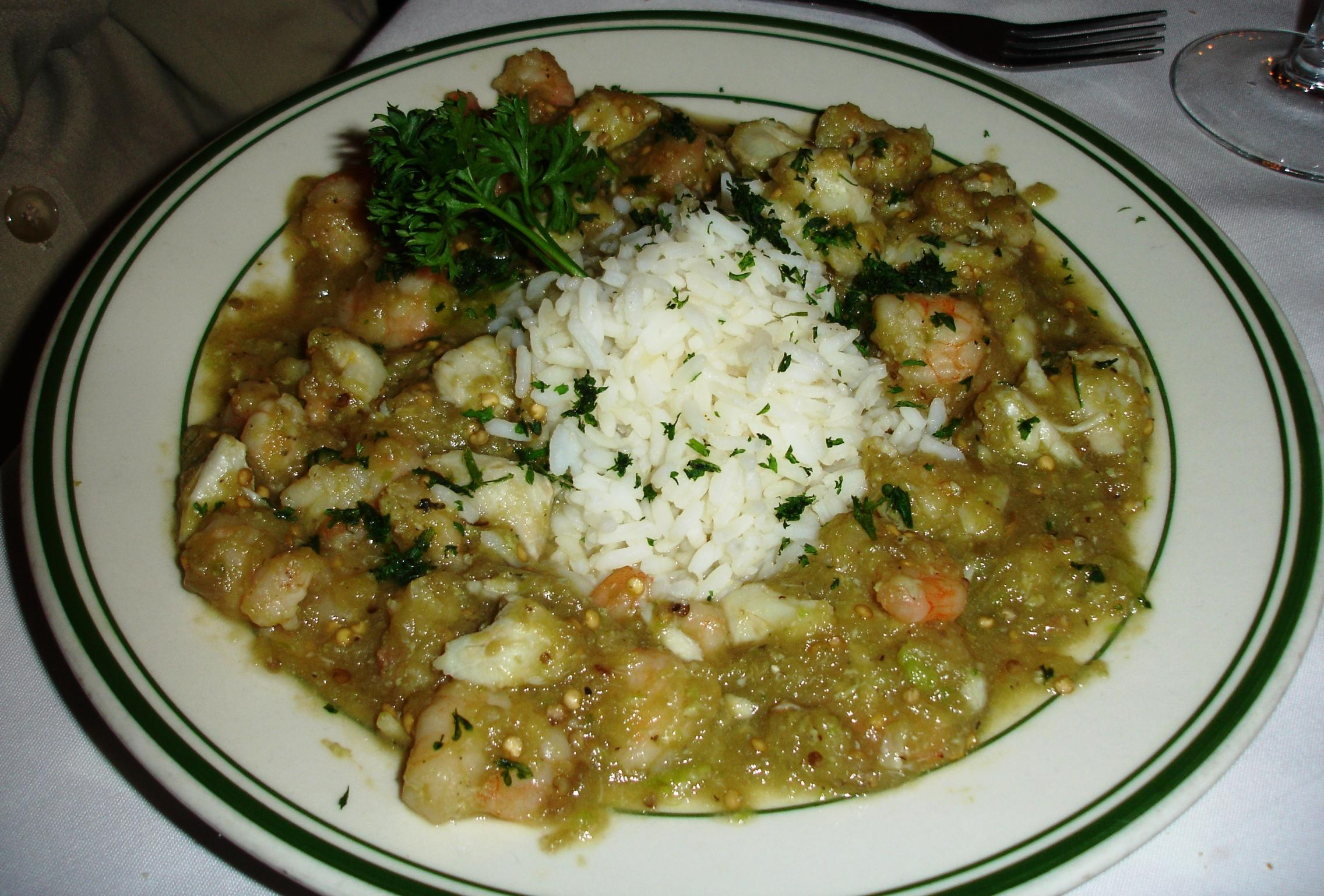 Eggplant combines with seafood beautifully in this etouffee of crab and shrimp.
