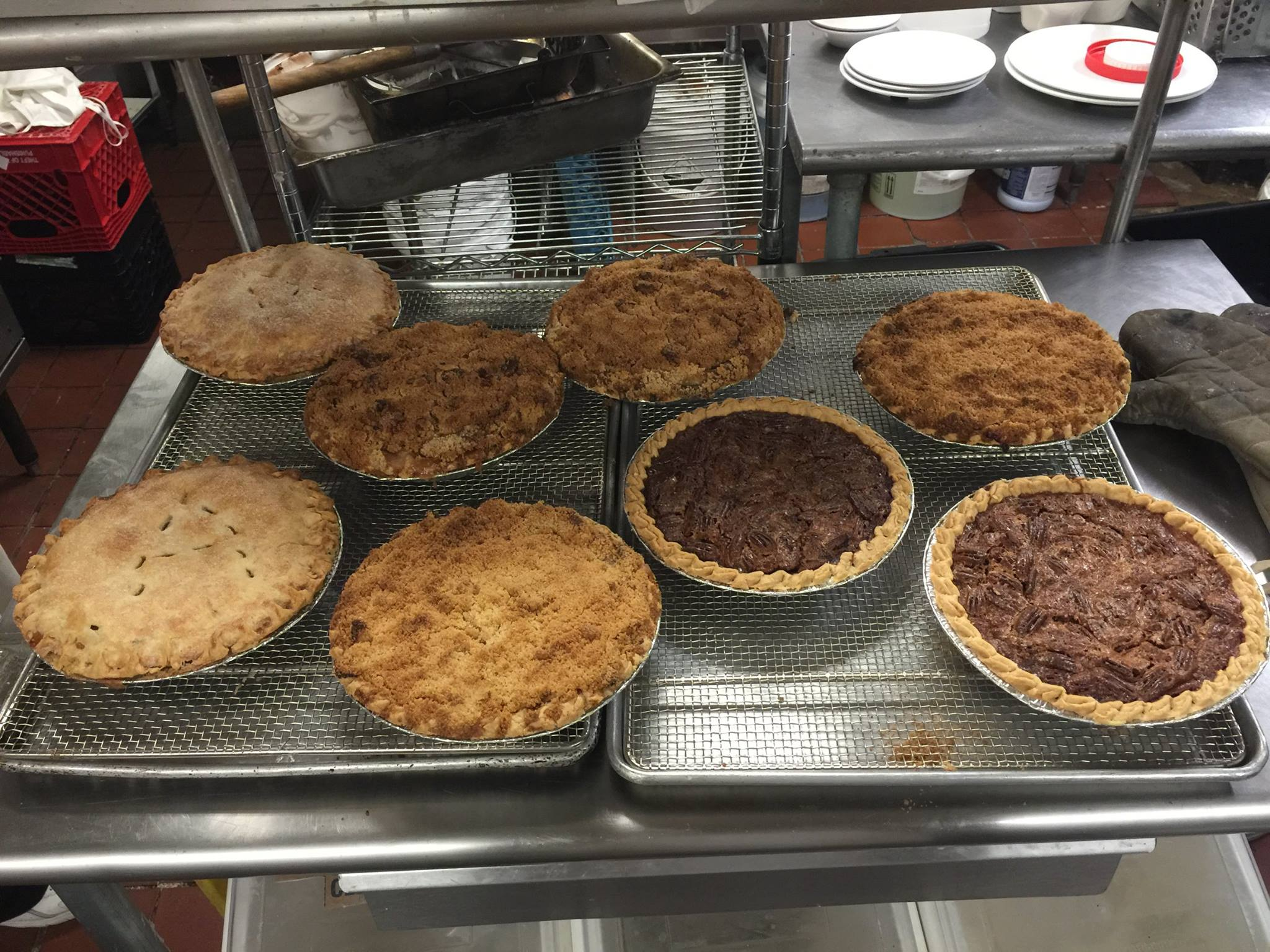 The staff at Chick & Ruth's are being taught how to make homemade pie, as the restaurant switches over from frozen pies.