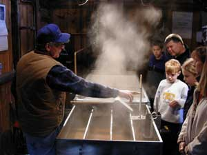 Learn how maple tree sap is turned into maple syrup.