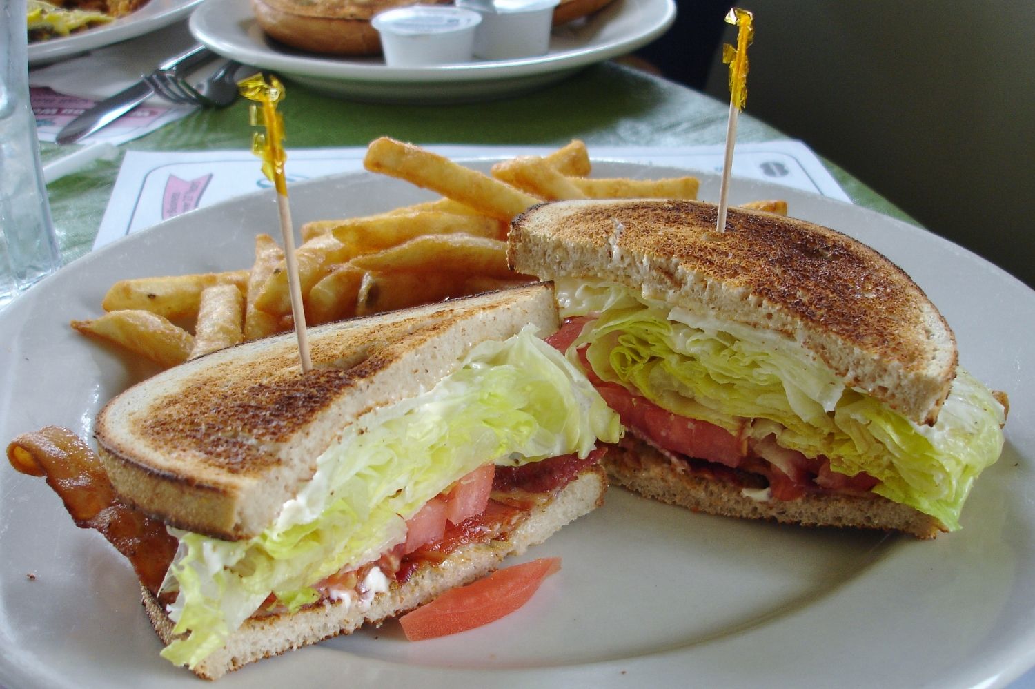 A classic BLT on toasted white could have used more bacon.