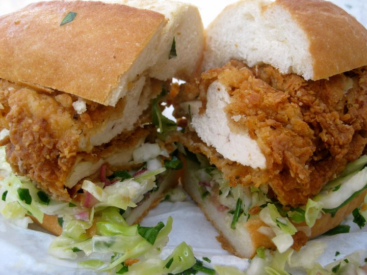 The much-loved fried chicken sandwich from Bakesale Betty of Oakland, CA