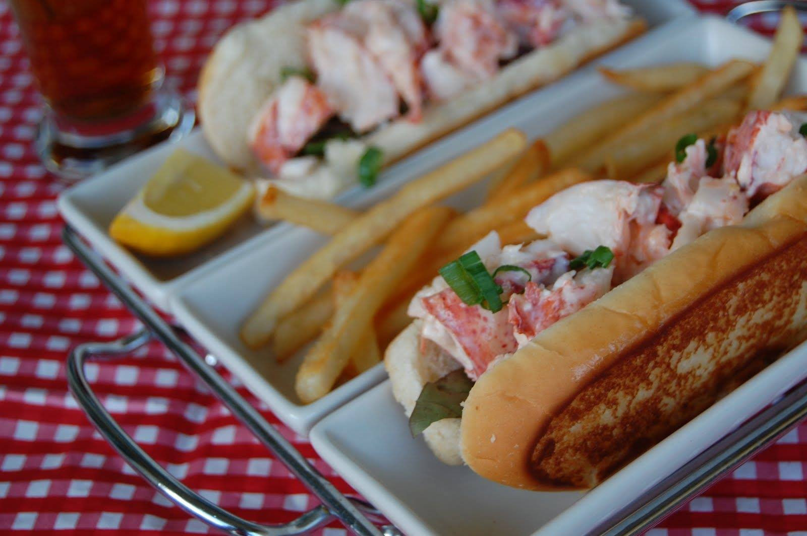 Enjoy the Florida take on a New England favorite: lobster rolls, presumably prepared with the local spiny lobsters.