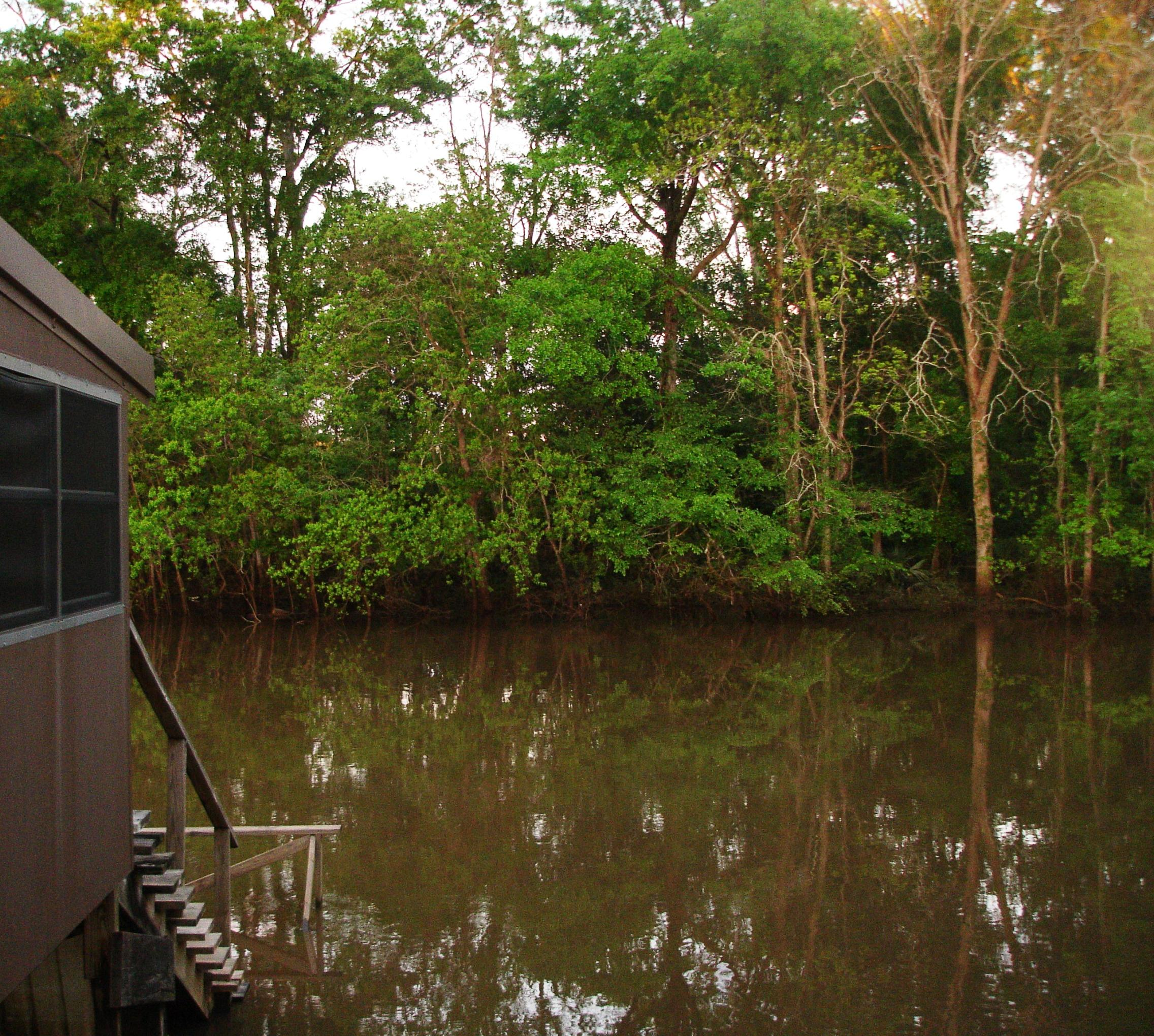 Myran's is situated right on Bayou Teche.