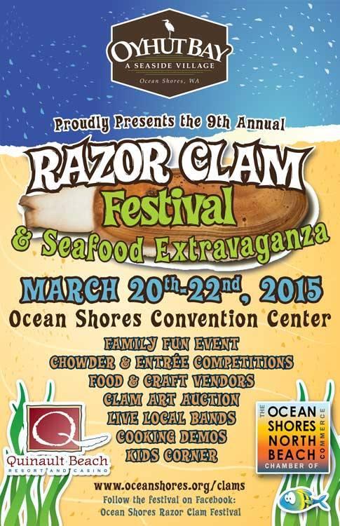 Razor Clam Festival & Seafood Extravaganza, Ocean Shores, WA