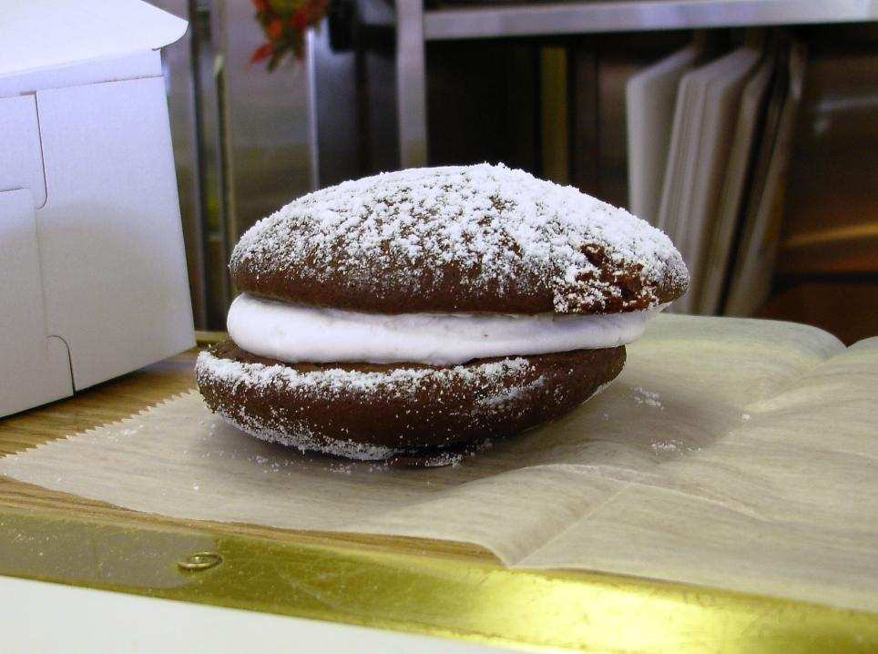 Tripoli's whoopie pie is the best we've had. Normally, we eat plastic-wrapped specimens with lobster dinners in Maine, and they are fine in a convenience food sort of way, but Tripoli's fresh-baked versions are head-and-shoulders above the others.