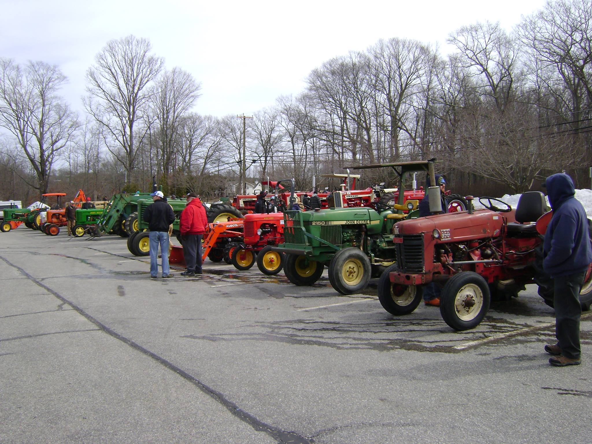 Check out the antique tractor parade.
