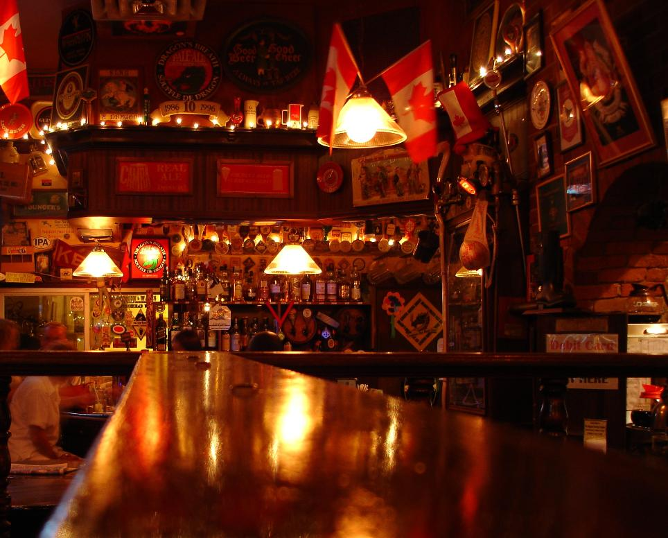 Kingston Brewery's pub is decked out with lots of beer-themed paraphernalia.