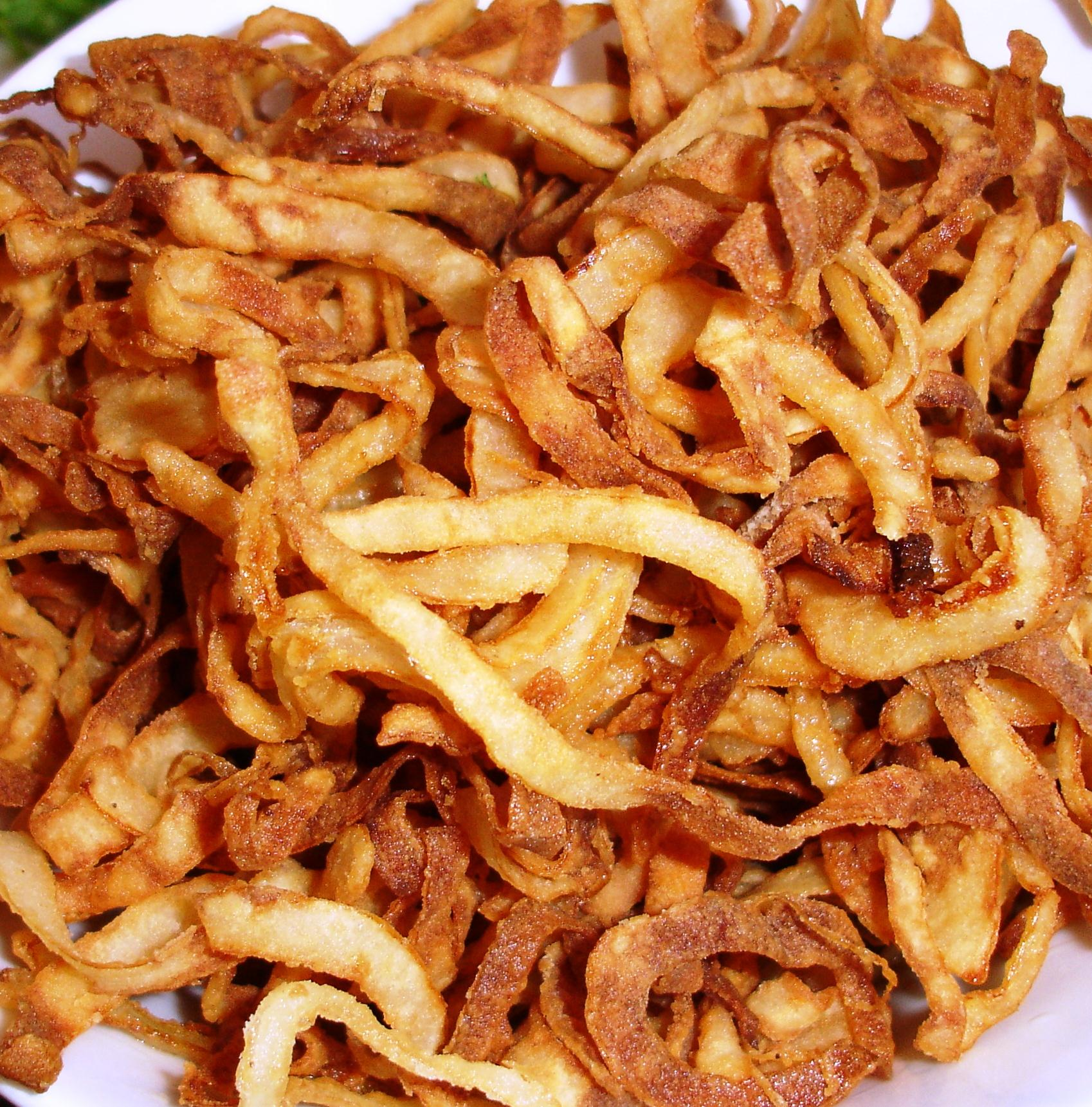 Frizzled onions are simply some of the best onion rings to be had anywhere!