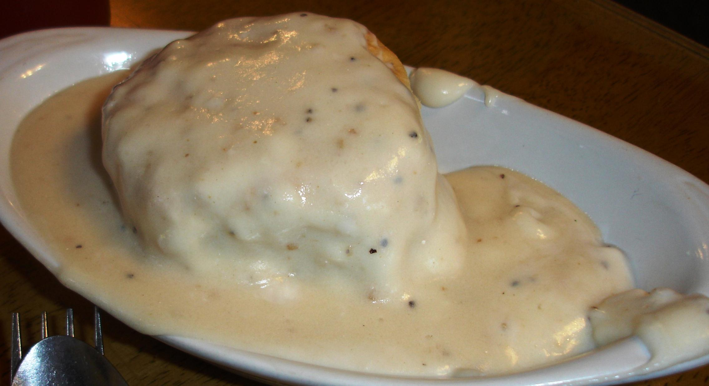 ... a biscuit, also covered with gravy if you wish. A CFS breakfast is a lot of food.