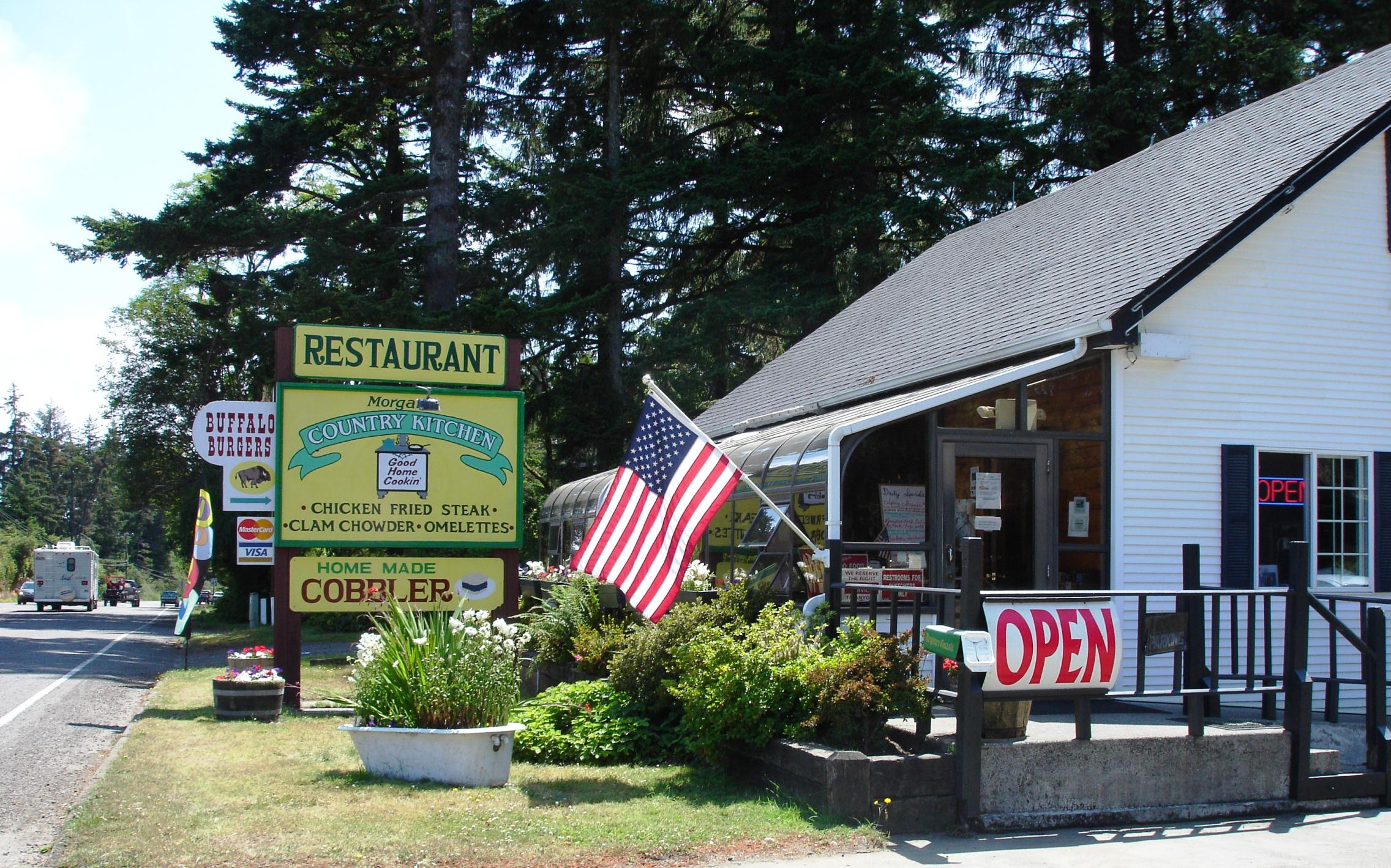 Morgan's Country Kitchen serves hearty portions of diner food for breakfast and lunch only seven days a week.