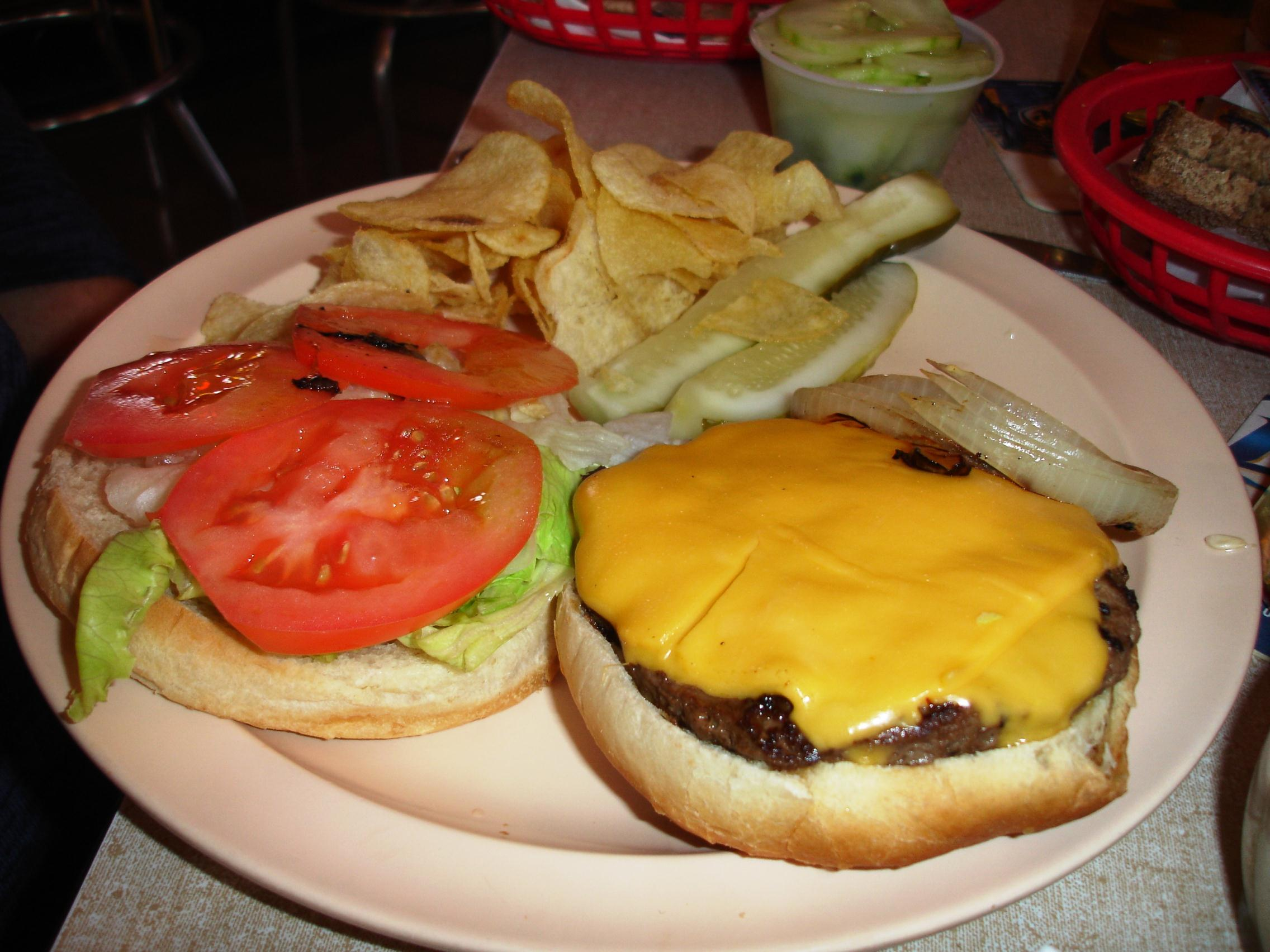 Missed Wanda's hot lunch? Burgers are always available.
