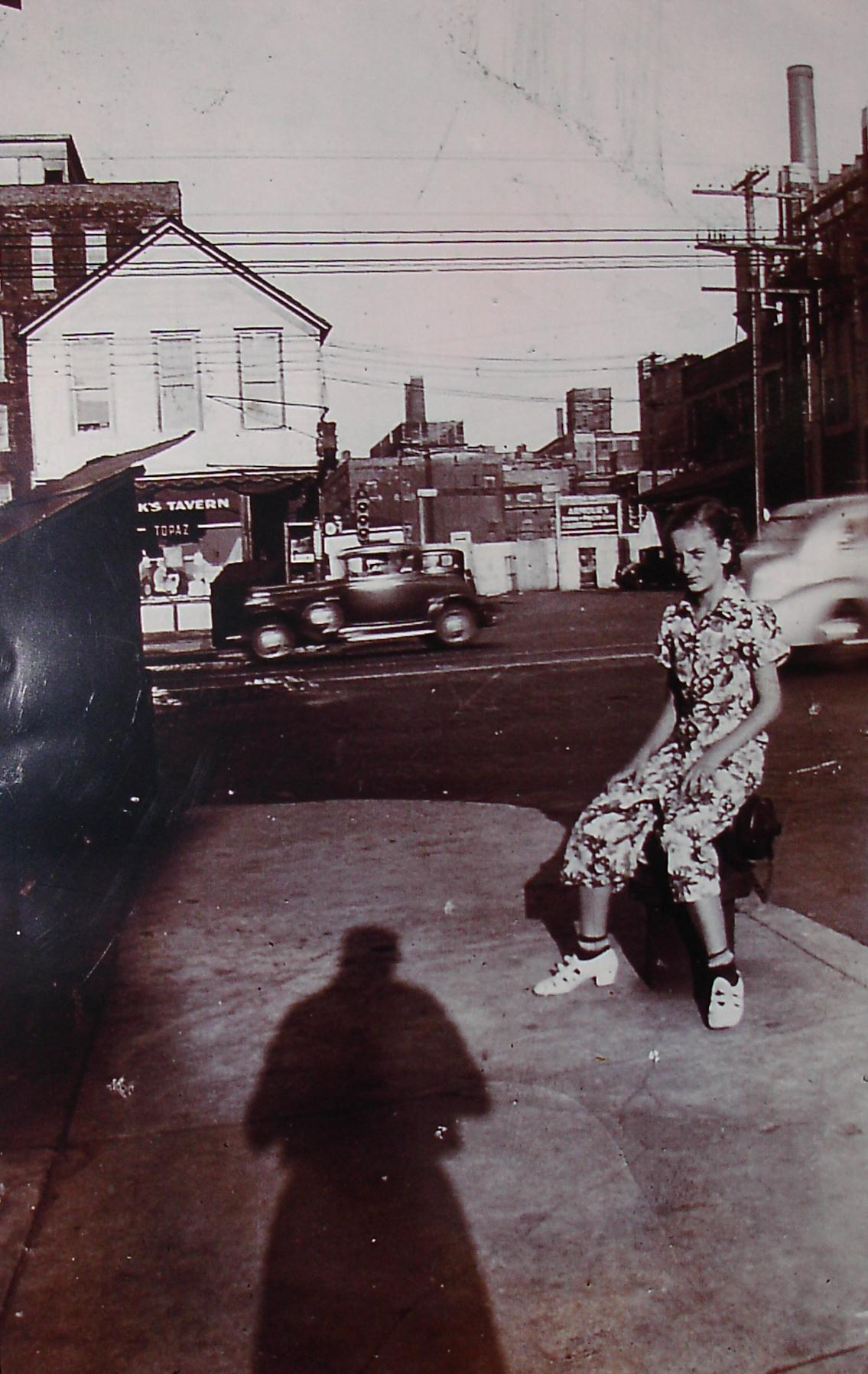 This is Wanda Kurek in front of the Chicago stockyards. The photo was taken from in front of Stanley's Tavern across the street. We don't know the date of the picture but Wanda is, today, in her late 80s.