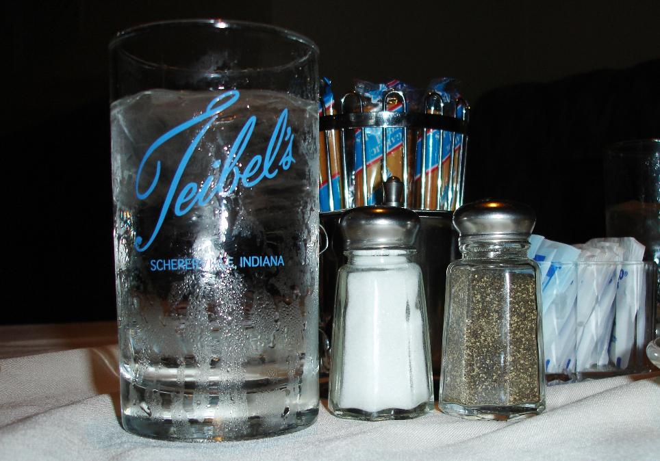 Water Glass, Teibel's, Schererville, IN