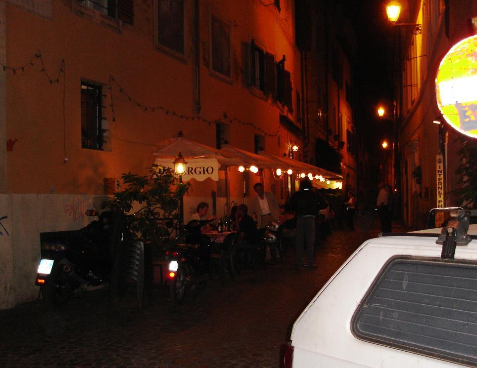 The outside tables are choice at Da Sergio.
