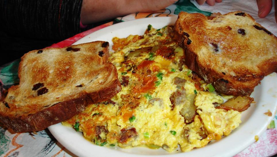Another breakfast special, today's frittata was a luxuriously cheesy plate of eggs.