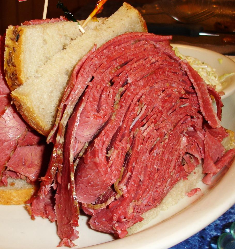 """This """"small"""" corned beef was ordered lean and, sure enough, it had ..."""