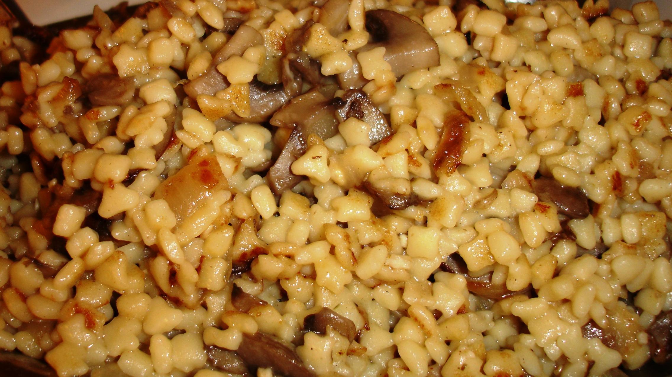 The dish listed as Mushroom - Egg - Barley is like a moist, mushroomy pasta-based stuffing, along the lines of matzo farfel and kasha varnishkes.