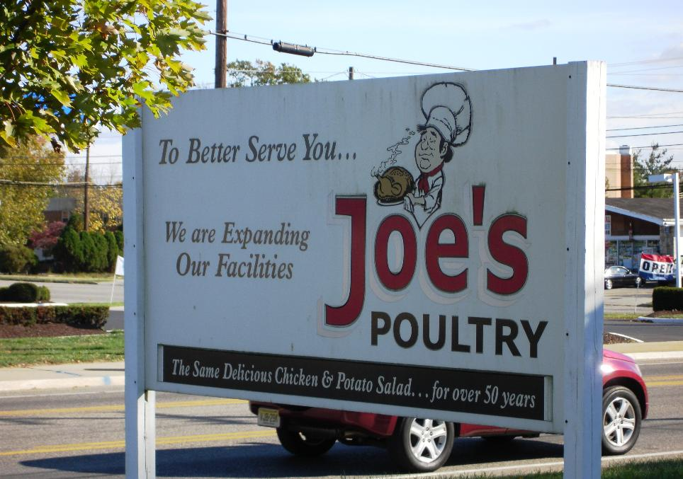 The Same Delicious Chicken & Potato Salad...for over 50 years. So says the sign, and the sign is right: those are the two best items in the house.