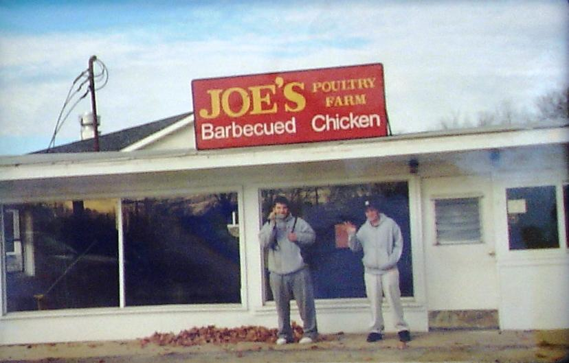 This is a photo of a photo; the earlier incarnation of Joe's Poultry Farm.