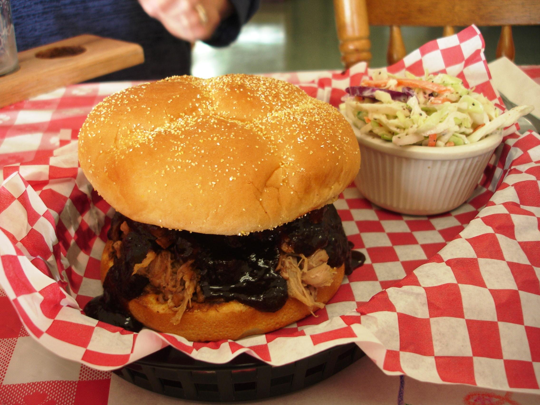 We asked for our pulled pork sandwich with their thick and rich Smokey Sweet sauce. The pulled pork is as good as the ribs.