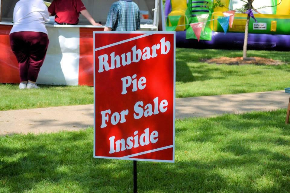 Pie Sign, Rhubarb Festival, Kankakee, IL