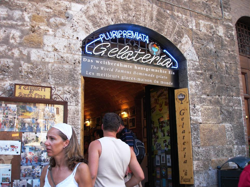 There are many gelaterias on the piazza in San Gimignano.  Make the effort to locate this one in particular.