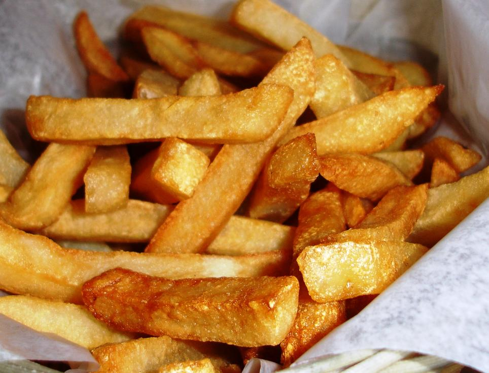 French fries are hot and crisp.