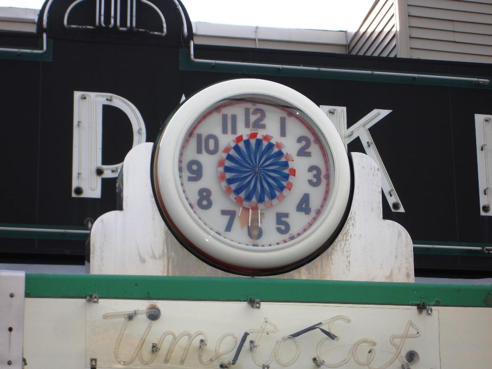 Clock, Highland Park Diner, Rochester, NY