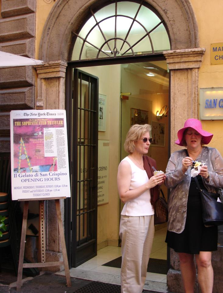 San Crispino is no secret.  The New York Times is one of the many publications that have heaped praise upon this gelateria.