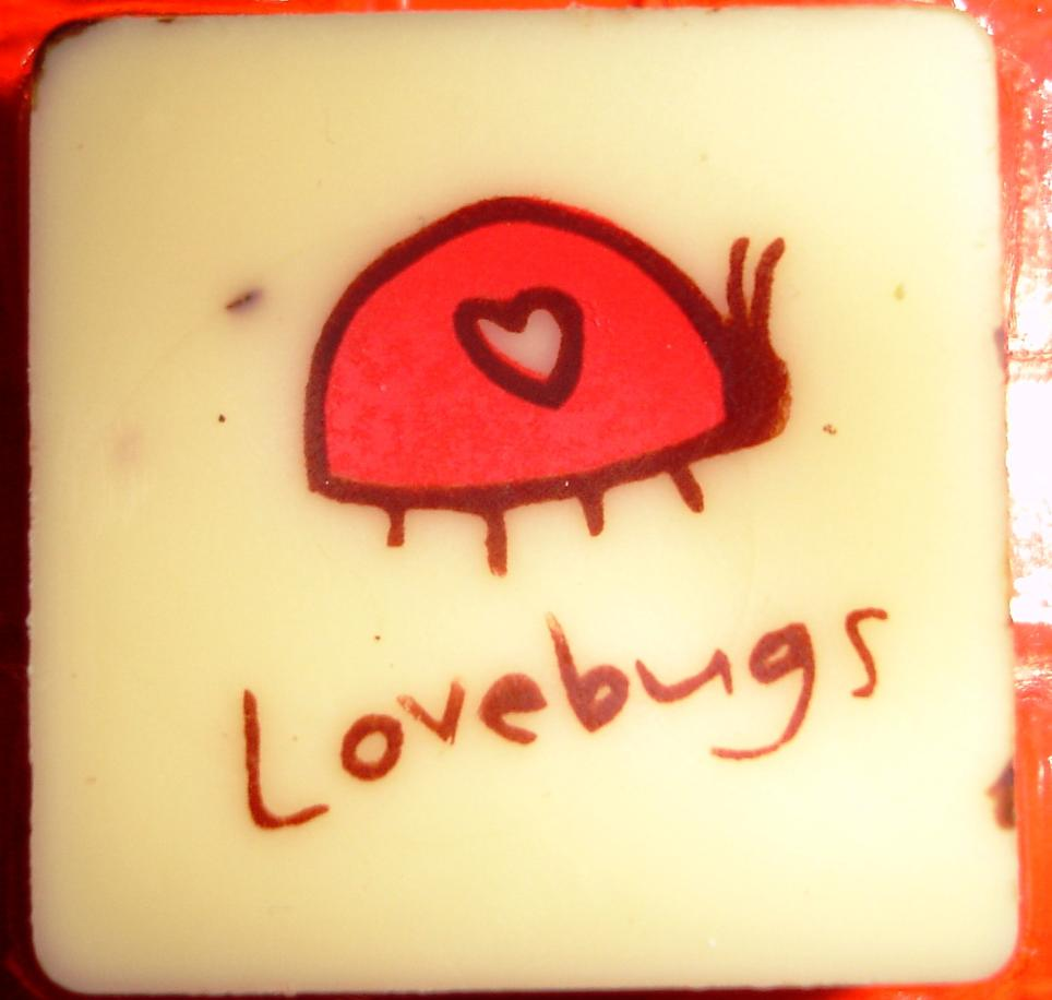 The key lime and white chocolate piece called Love Bug captures the essence of Jacques Torres' playfulness.