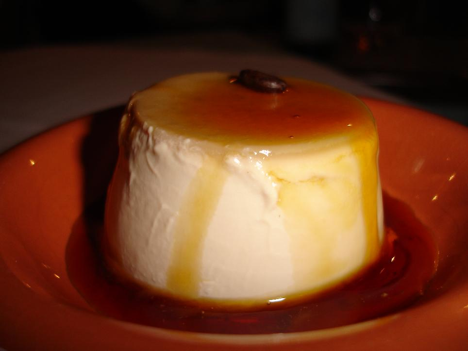 The exquisitely creamy panna cotta with caramel sauce was one of the meal's highlights.