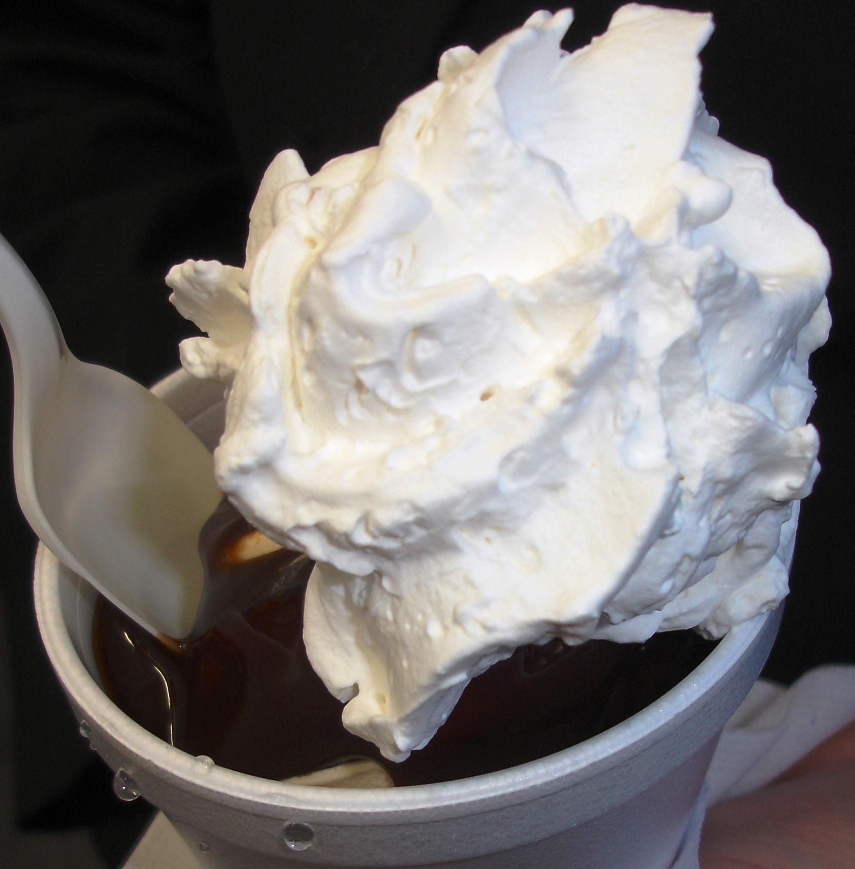 Our hot fudge sundae was made with coffee soft serve.
