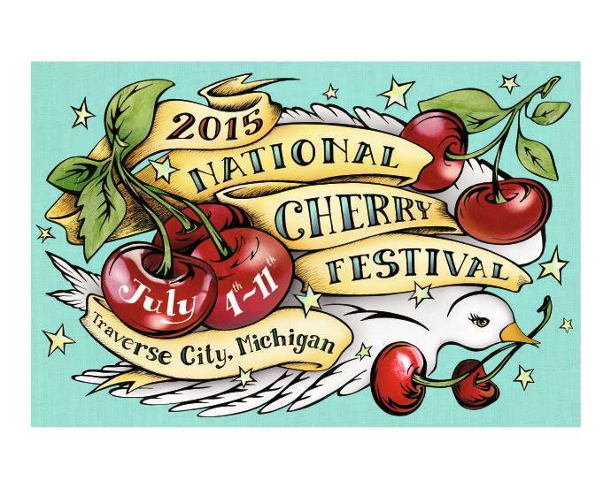Artwork, National Cherry Festival, Traverse City, MI