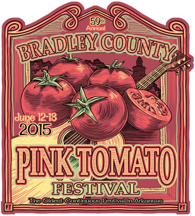 Logo, Bradley County Pink Tomato Festival, Warren, AR