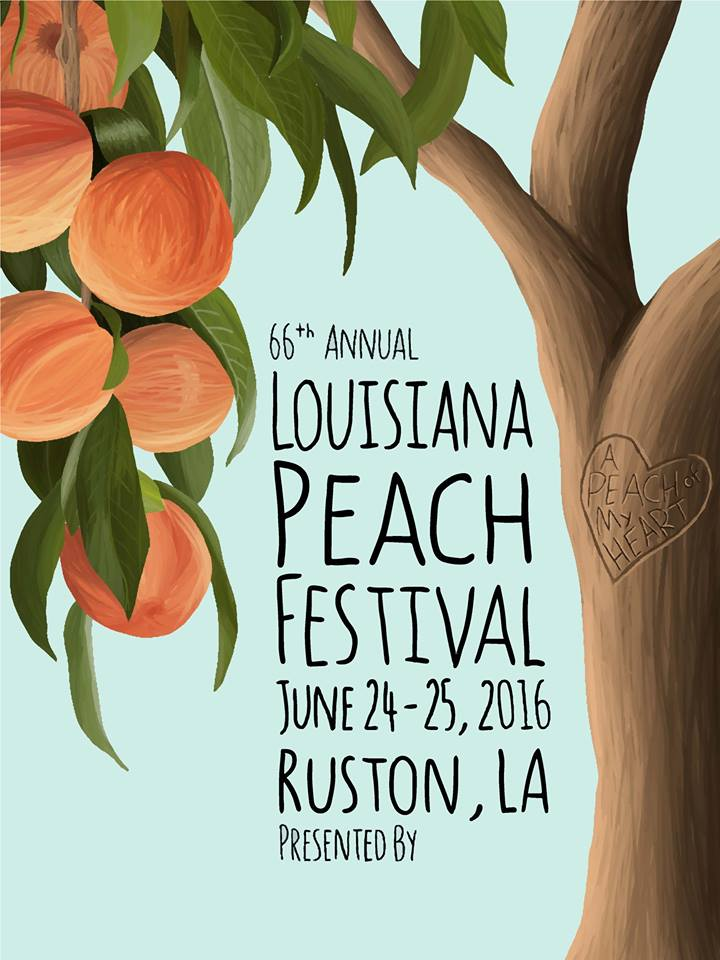 Poster, Louisiana Peach Festival, Ruston, LA