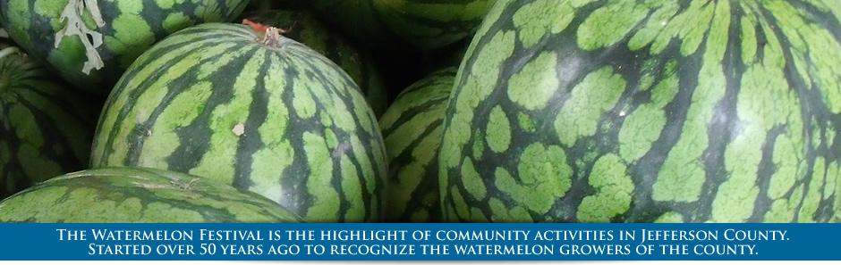 Watermelons, Jefferson County Watermelon Festival, Monticello, FL