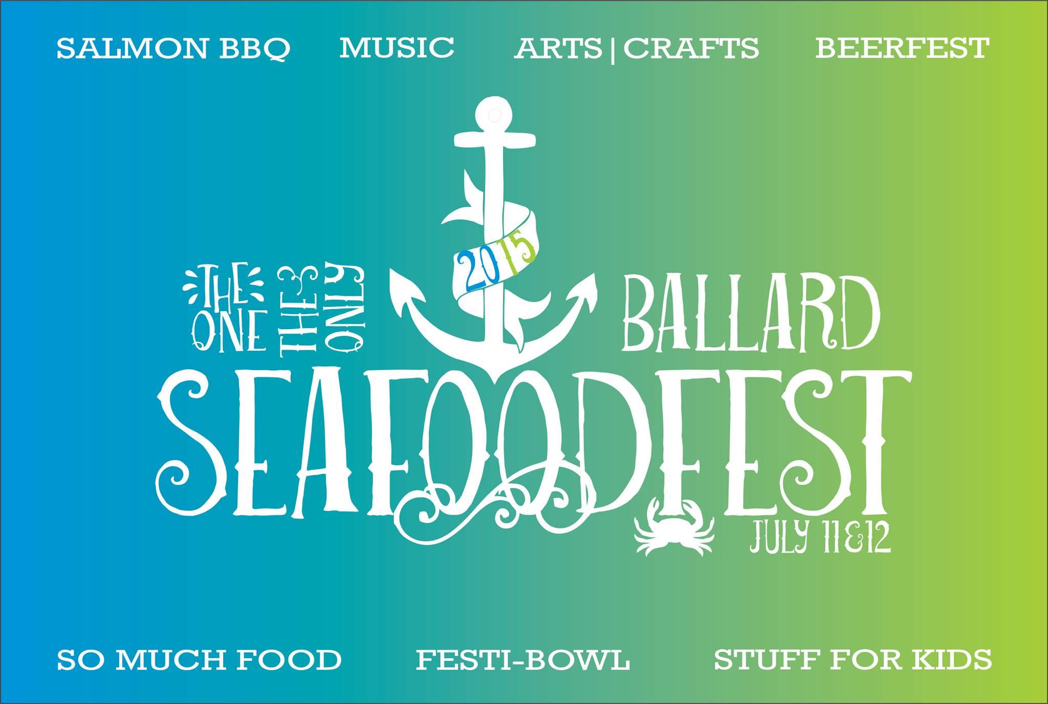 Poster, Ballard SeafoodFest, Seattle, WA