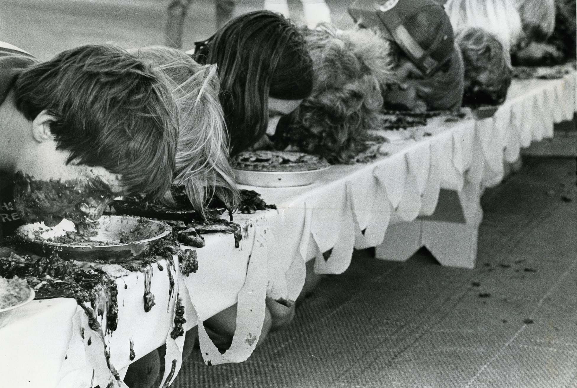 Once (this is 1978) there was a raspberry pie eating contest.