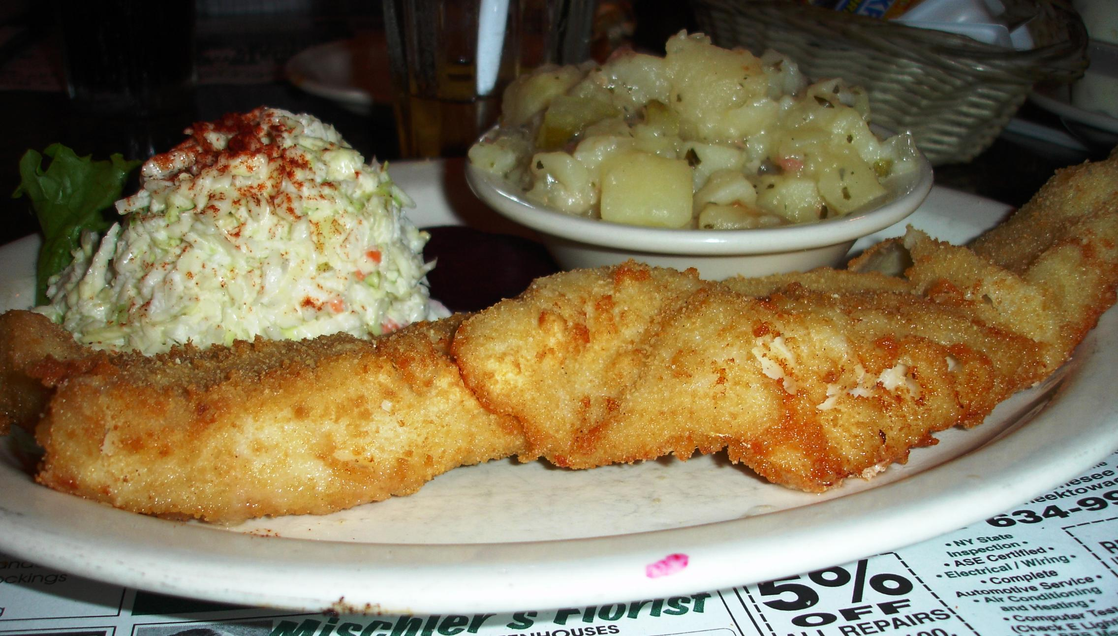 A traditional WNY Friday fish fry