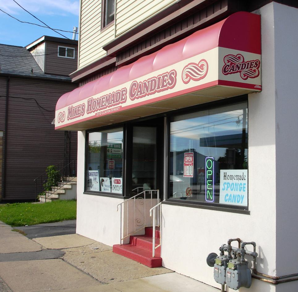 Mike's is a small, unassuming neighborhood candy store that happens to make superb traditional chocolate-based candy.