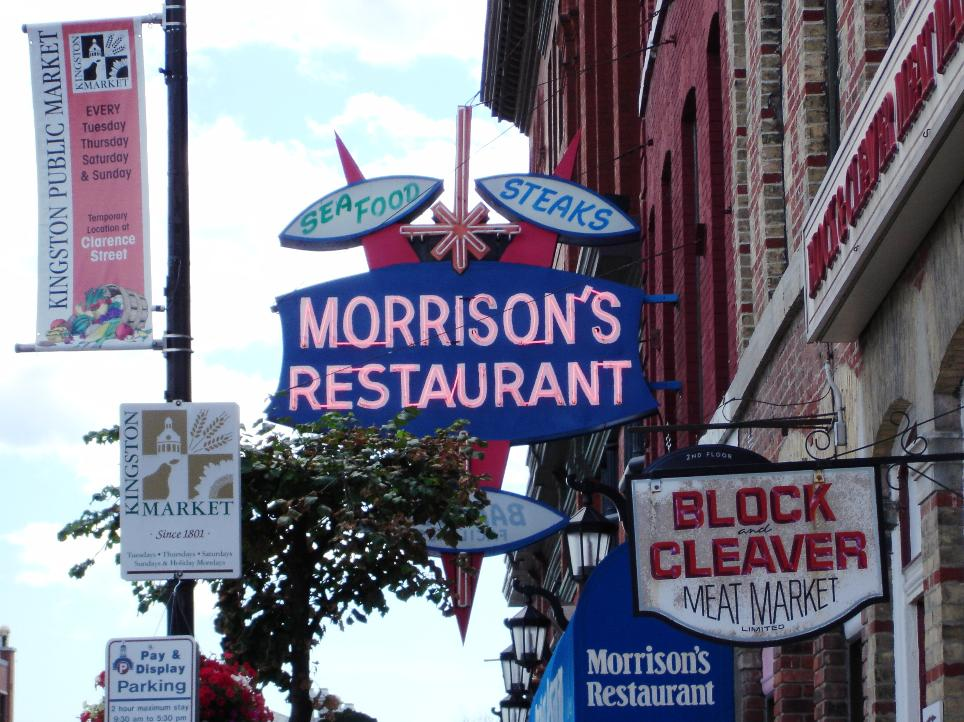 Morrison's sign is a wonderful anachronistic presence in downtown Kingston. If only the food were better.