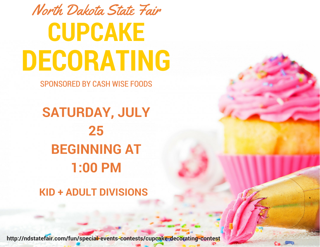 Cupcake Decorating, North Dakota State Fair, Minot, ND