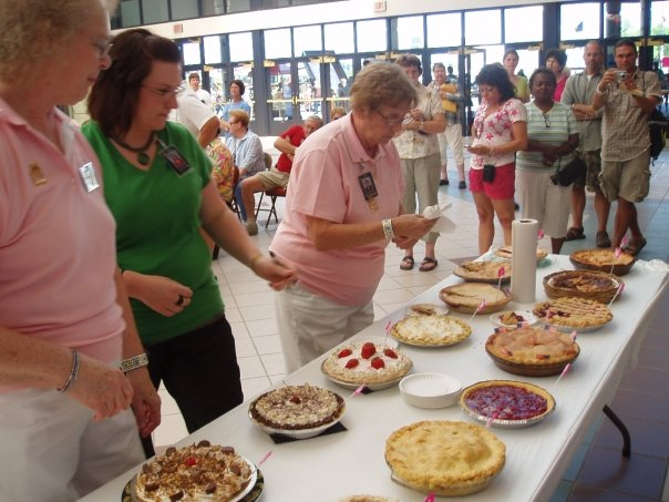 The homemade pie competition is one of our favorite events.