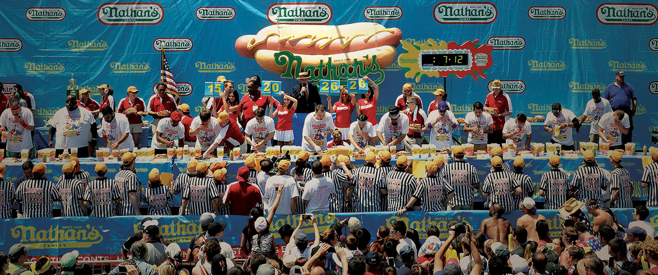 A Judge's Eye View of Nathan's Hot Dog Eating Contest – Left at the Fork